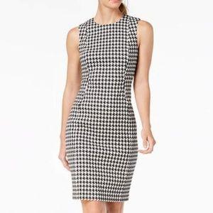 Calvin Klein Houndstooth Sheath Dress Size 10